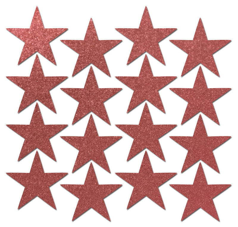 Body Minis: 16 Mini Reflective Red Stars Nipple & Body Pasties