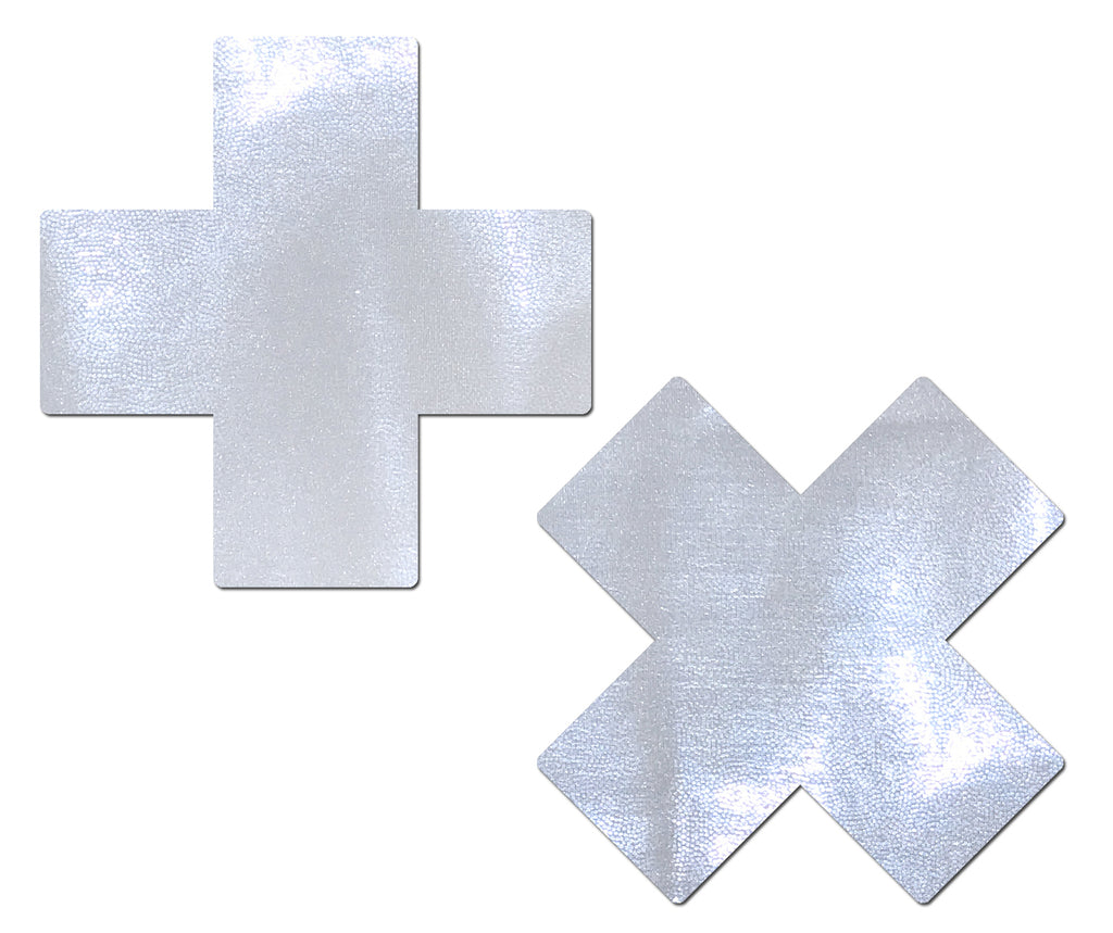 Plus X: Liquid White Cross Nipple Pasties
