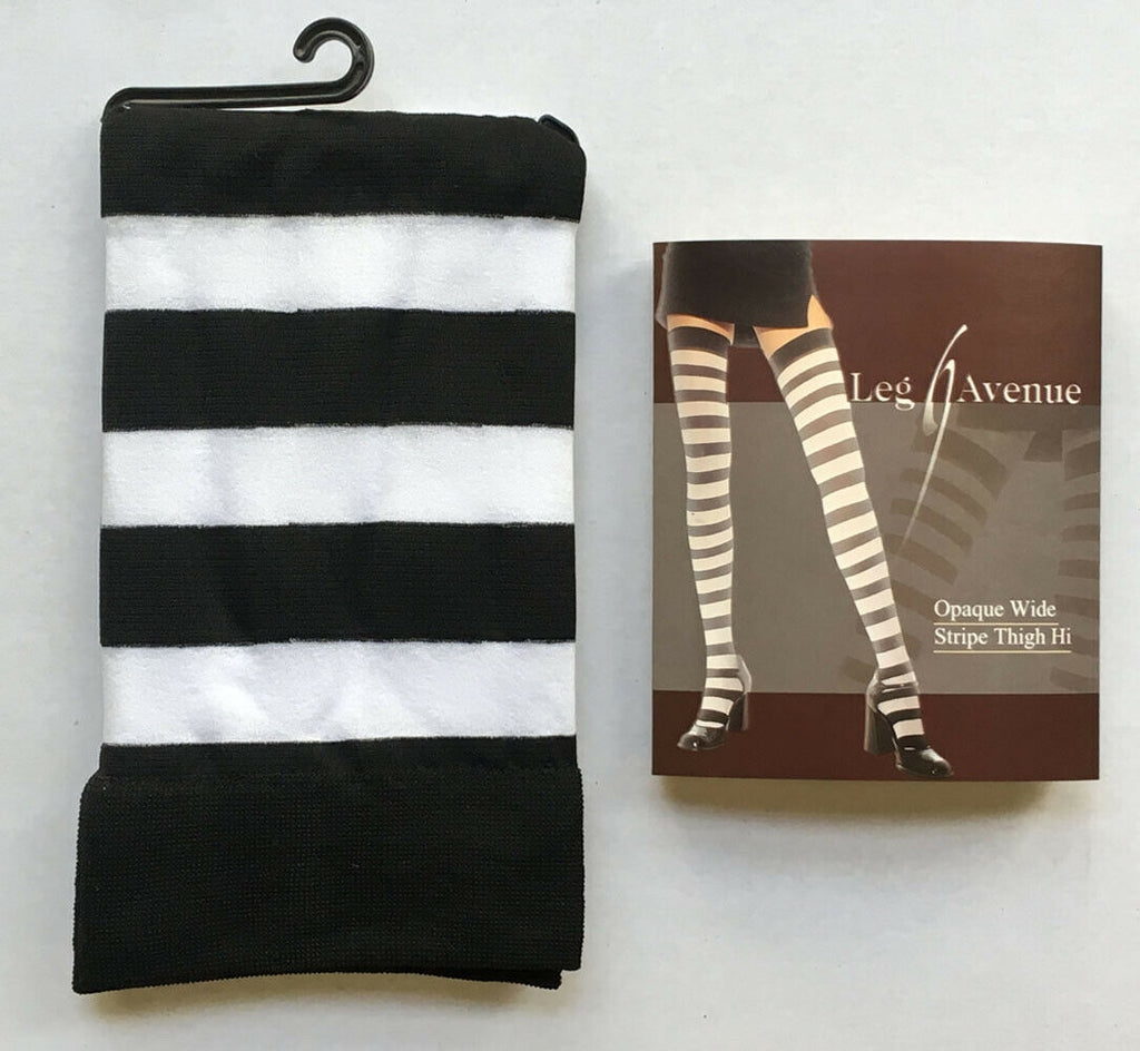 Opaque Wide Striped Stockings