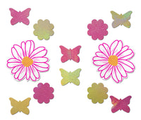 Set: White, Pink and Yellow Wildflower