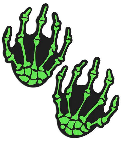 Skeleton Hands: Zombie Neon Green/UV Reactive