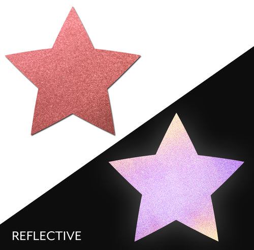 Star: Reflective Red Star Nipple Pasties