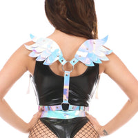 Blue/Purple Holo Body Harness w/Wings