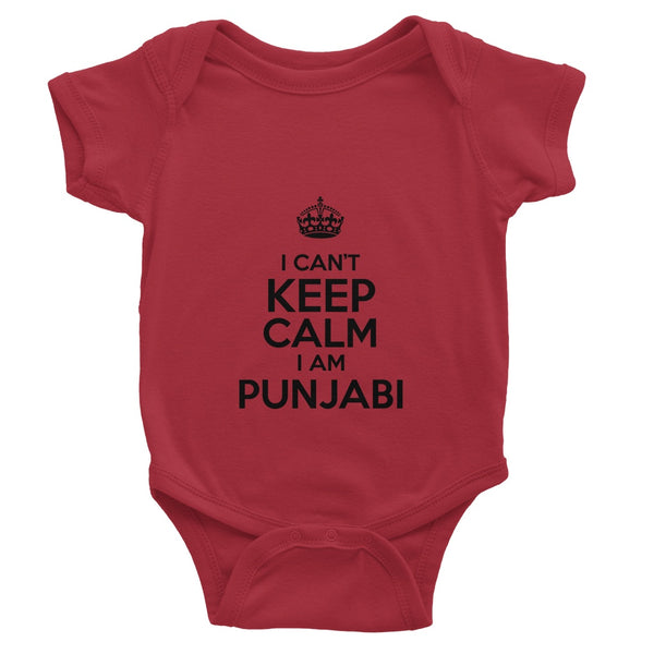I CAN'T KEEP CALM I AM PUNJABI Baby Bodysuit