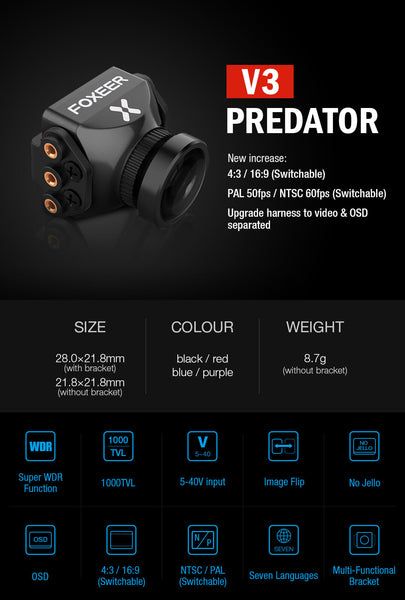 Cyclone FPV Foxeer Predator v3 Mini for CycloneFPV Drones