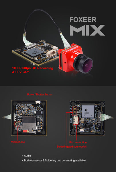 Cyclone FPV Foxeer Mix Mini HD-DVR Camera for CycloneFPV Drones