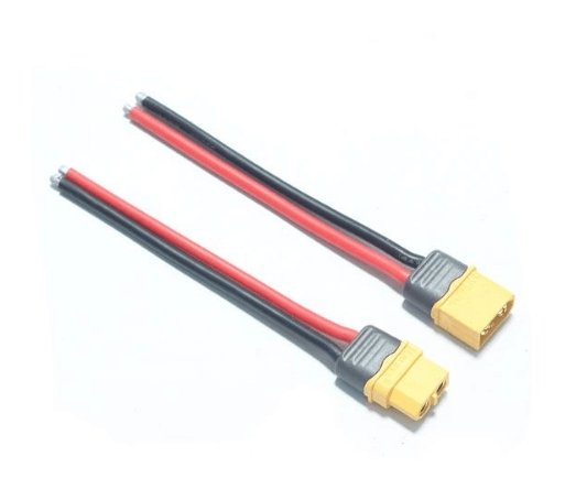 AMASS XT60+ Plug Connector 14AWG 10cm Power Cable Wire - Male - Cyclone FPV