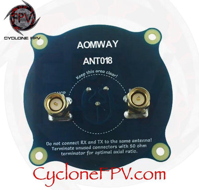 Aomway ANT018 Triple Feed Patch-1 5.8G 8dBi RHCP / LHCP Antenna - Cyclone FPV