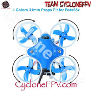 BETAFPV 31mm 4-Blade Whoop Propellers (1.0mm Shaft - Blue) - Cyclone FPV