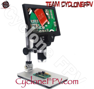 Digital Microscope 7inch LCD Display with Aluminum Stand - Cyclone FPV