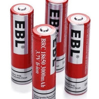 EBL 4-Pack 18650 Battery 3000mAh 3.7v Lithium-ion Rechargeable Batteries - Cyclone FPV
