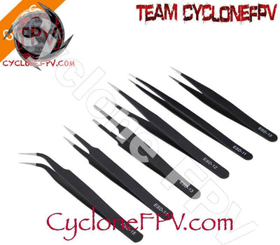 ESD Series Precision Tweezers 6 Piece Set - Cyclone FPV