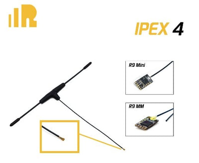 FrSky 900MHz Ipex4 Dipole T Antenna for R9 Mini / R9 MM Receiver - Cyclone FPV