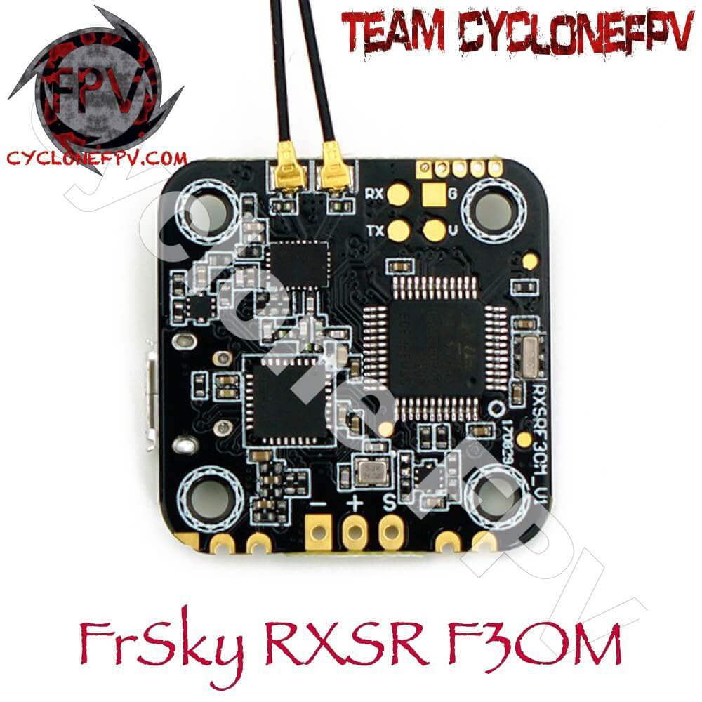 FrSky RXSRF3OM F3 Flight Controller w/ Built-in R-XSR Receiver - Cyclone FPV