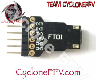 FTDI 5V Micro USB to TTL CP2104 Adapter - Cyclone FPV