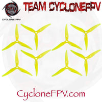 Gemfan 5125 5 Inch 3-Blade Durable Props 1.5mm 2.0mm 6 Colors - Cyclone FPV