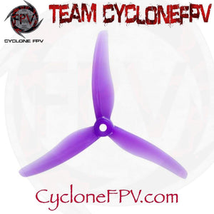 Gemfan Hurricane 51433 5 Inch Durable 3-Blade Prop 7 Colors - Cyclone FPV