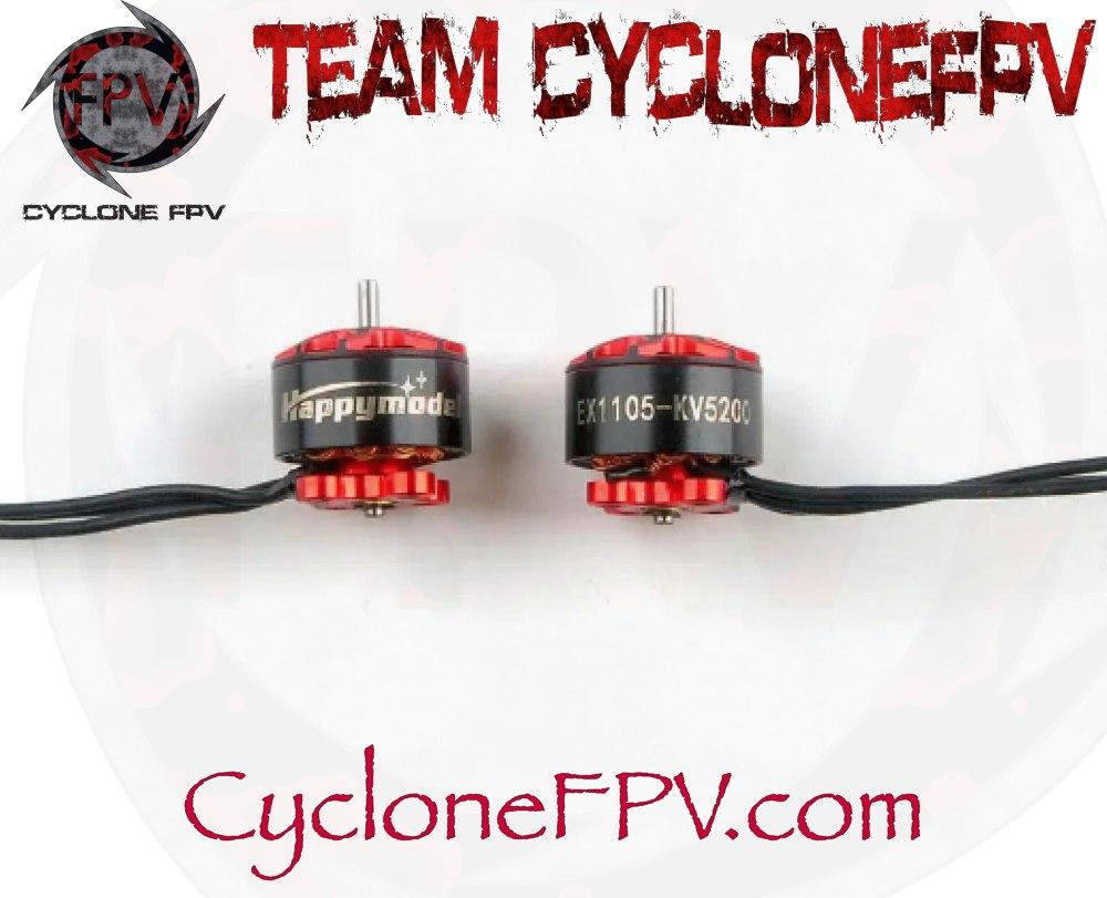 HappyModel 1105 5200KV 1.5mm 3-4S Motors - Cyclone FPV