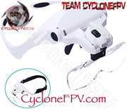 Head Mount Magnifier with LED and Lenses - Cyclone FPV