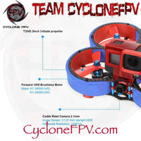 HGLRC Veyron 3 Cinewhoop Drone with Caddx Ratel 4S 6S Blue