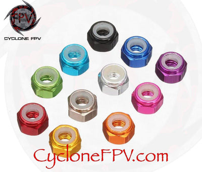 M2 Aluminum Alloy Colored Locknuts - Cyclone FPV