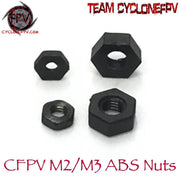 M2 and M3 Threaded Fasteners ABS Black 100 Count - Cyclone FPV
