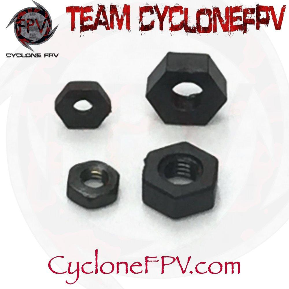 M2 and M3 Threaded Fasteners Steel Black 10 Count - Cyclone FPV