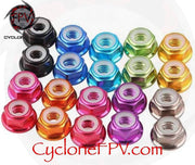 M3 Aluminum Alloy Colored Locknuts - Cyclone FPV