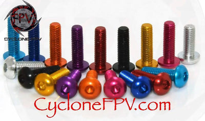 M3 Aluminum Alloy Hex Screws Button Cap All Colors and Sizes - Cyclone FPV