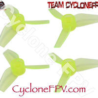 Rakonheli 40mm 3 Blade Transparent Propeller (2CW+2CCW; 1.0mm Shaft) - Cyclone FPV