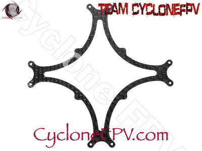 Rakonheli CNC 3K Pure Carbon Fiber Bottom Frame Support (1.0mm) (for 80DQX980) - Cyclone FPV