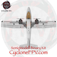 SonicModell Binary 1200mm Wingspan EPO Twin Motor FPV Plane Kit - Cyclone FPV