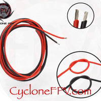 Stranded Wire Multiple Gauges Red Black for Drones - Cyclone FPV