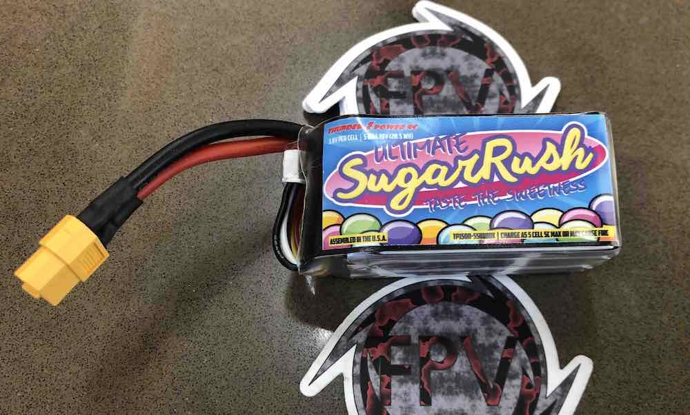 ThunderPowerRC SugarRush Sweetness 5s-1500mAh 100c HV from Cyclone FPV in Texas