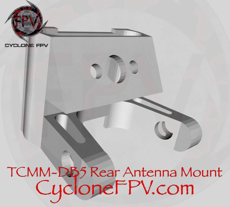 TCMM Laser-DB5 PLA Rear Antennal Mount - Cyclone FPV