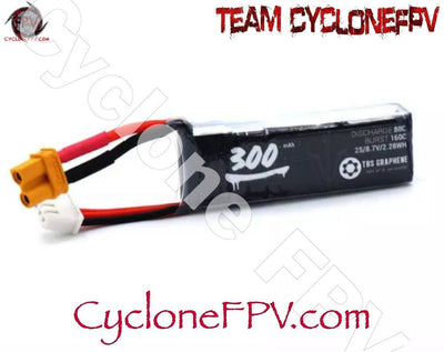 Team BlackSheep TBS Graphene 300mAh 2S HV Battery - Cyclone FPV