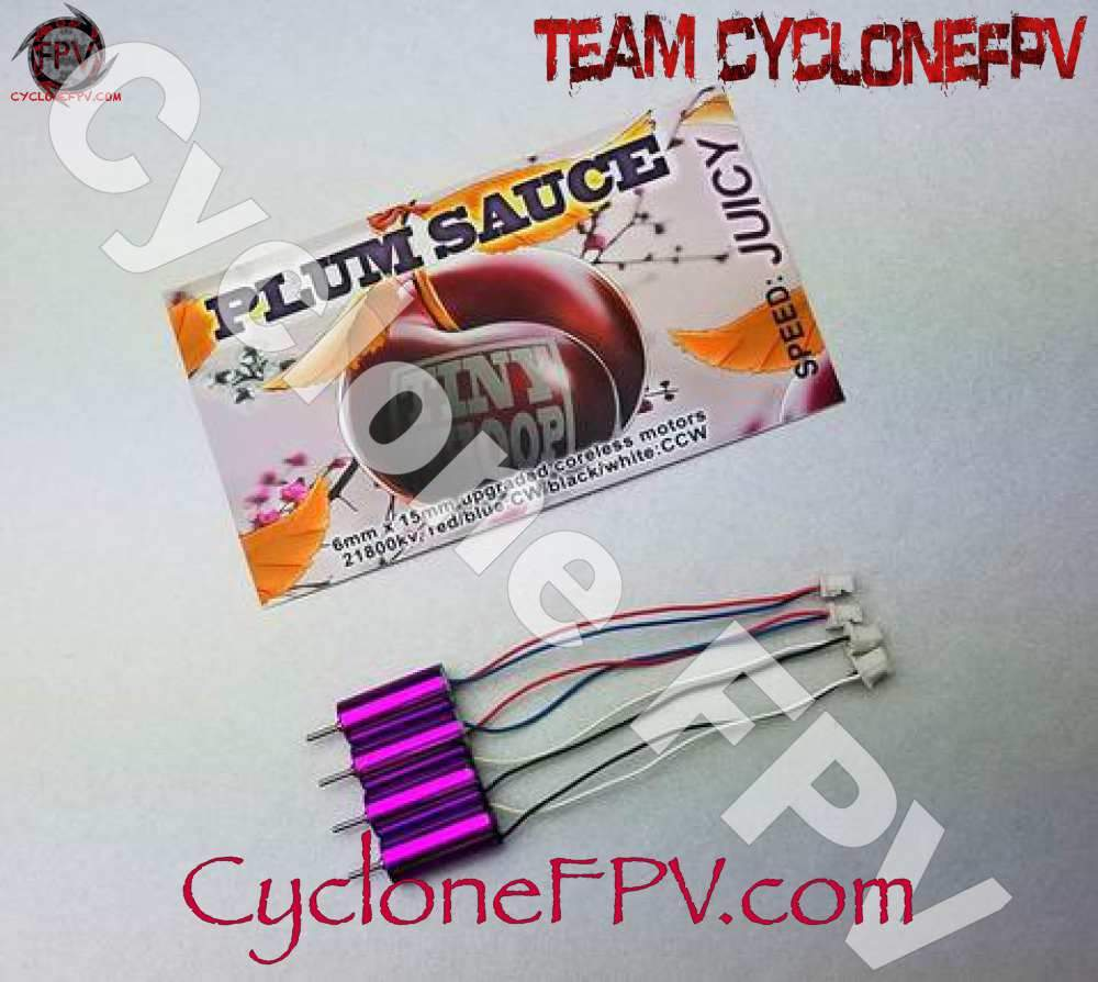 TinyWhoop Plum Sauce Motors - 6x15mm 21800kv - Cyclone FPV