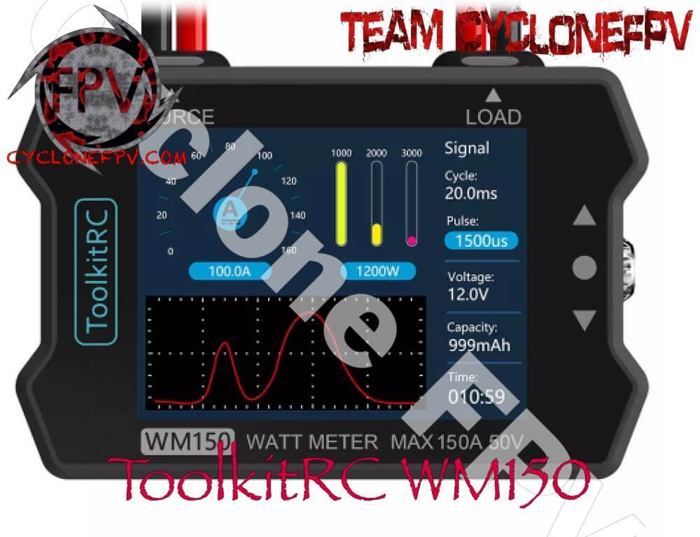 ToolkitRC WM150 150A Watt Meter and Tester - Cyclone FPV