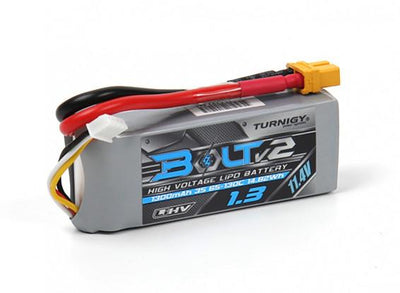 Turnigy Bolt V2 1300mAh 3S 65~130C High Voltage Lipo Pack - Cyclone FPV