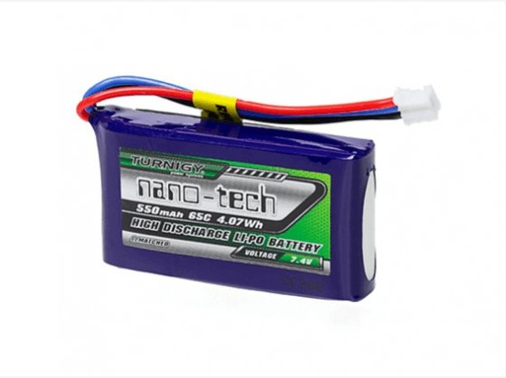 Turnigy nano-tech 550mAh 2S 65C Lipo Pack - Cyclone FPV