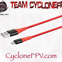 USB A to USB C or USB A to Lightning Data Charging Cable 1 Meter - Cyclone FPV