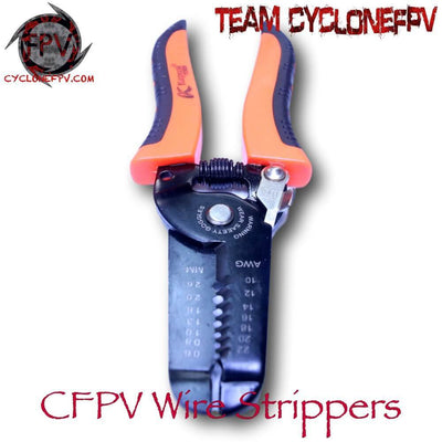 Wire Strippers Spring Loaded with Insulated Handle - Cyclone FPV