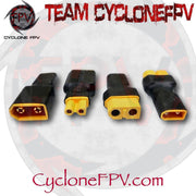 XT30 to XT60 Adapters 4 Styles - Cyclone FPV