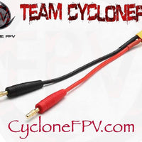 XT30 XT60 to 4mm Banana Plug LiPo Charger Cables - Cyclone FPV