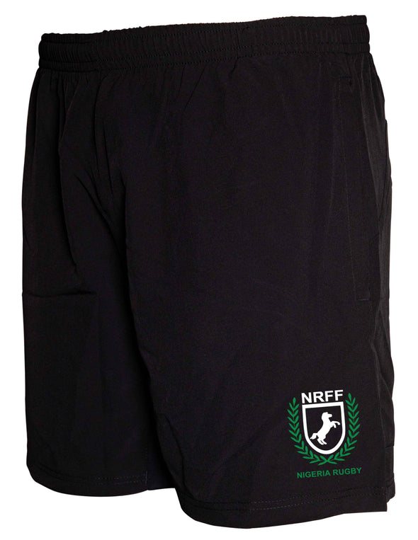Nigeria Rugby Gym Short - Black