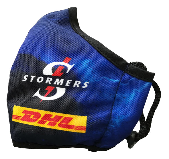 BLK DHL Stormers Face Mask