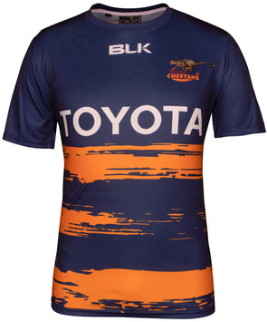 Toyota Cheetahs Training T-Shirt - Navy/Stripe