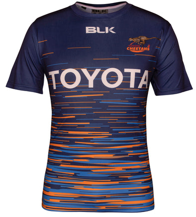 Toyota Cheetahs Training T-Shirt - Navy/Tri-line