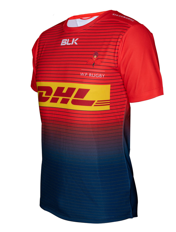 BLK Official Western Province Training Jersey - Red/Navy