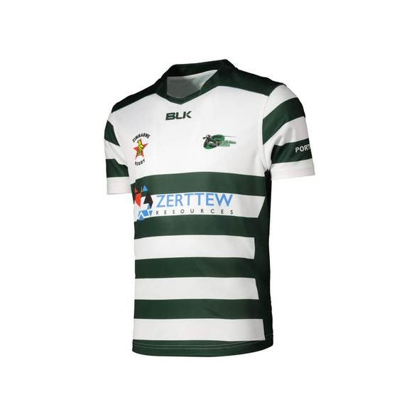 Zimbabwe Replica Jersey - White/Bottle Green